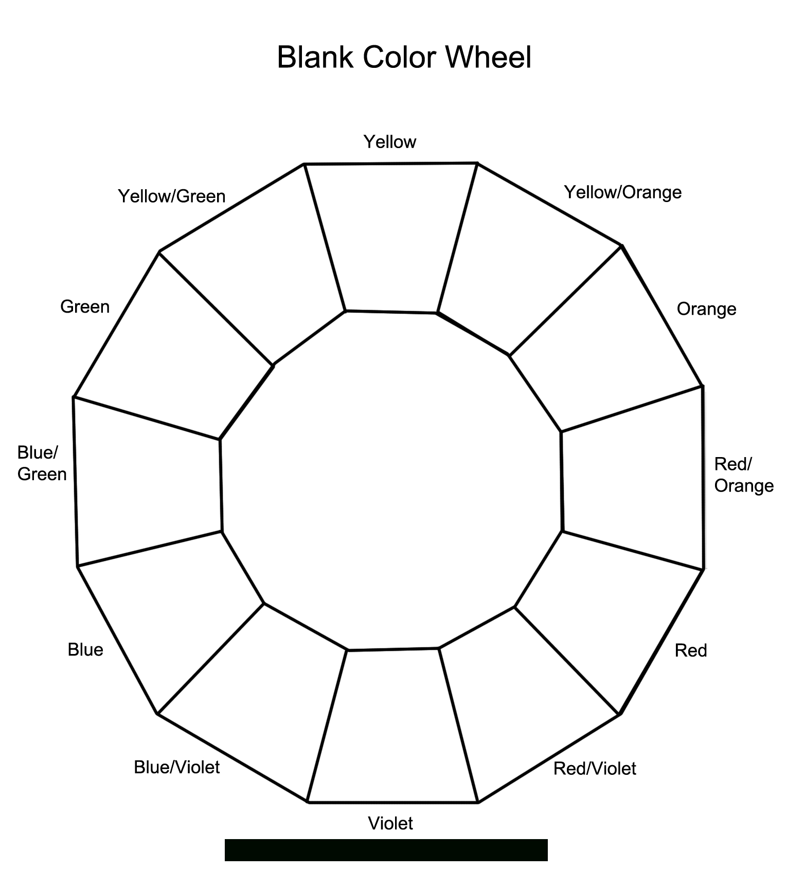 Section Colour Wheel  Free Pictures  Painting In   Color With Regard To Blank Color Wheel Template