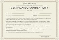 Selling Originals Dos And Don'ts  Svs Forums with regard to Photography Certificate Of Authenticity Template