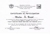 Seminar Certificate Format  Toha with regard to Certificate Of Participation In Workshop Template