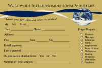 Send Your First Time Church Visitor A Followup Letter  Writing with regard to Church Visitor Card Template