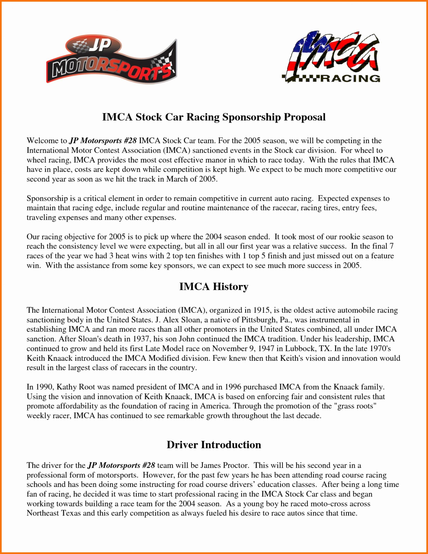 Sensational Corporate Sponsorship Proposal Template Ideas Pdf Free With Regard To Race Car Sponsorship Agreement Template