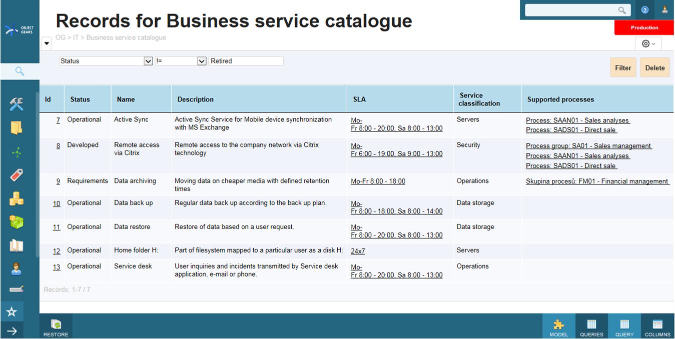 Service Catalogue  Objectgears Inside Business Service Catalogue Template