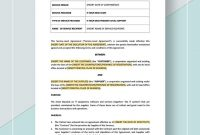 Service Level Agreement  Agreement Templates  Designs within Supplier Service Level Agreement Template