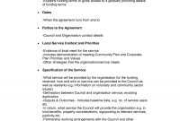 Service Level Agreement Checklist  Appendix Service Level throughout Standard Sla Agreement Template