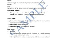 Service Level Agreement  Free Template  Sample  Lawpath with Standard Service Level Agreement Template
