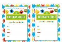 Sesame Street Printable Invitation Diy Fill In The Blank Free for Sesame Street Banner Template