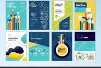 Set Brochure Design Templates Subject Education School Online within School Brochure Design Templates