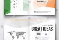 Set Business Templates Brochure Magazine Flyer Stock Vector Royalty regarding Ind Annual Report Template