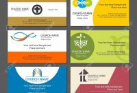 Set Christian Business Cards For The Church The Ministry The pertaining to Christian Business Cards Templates Free