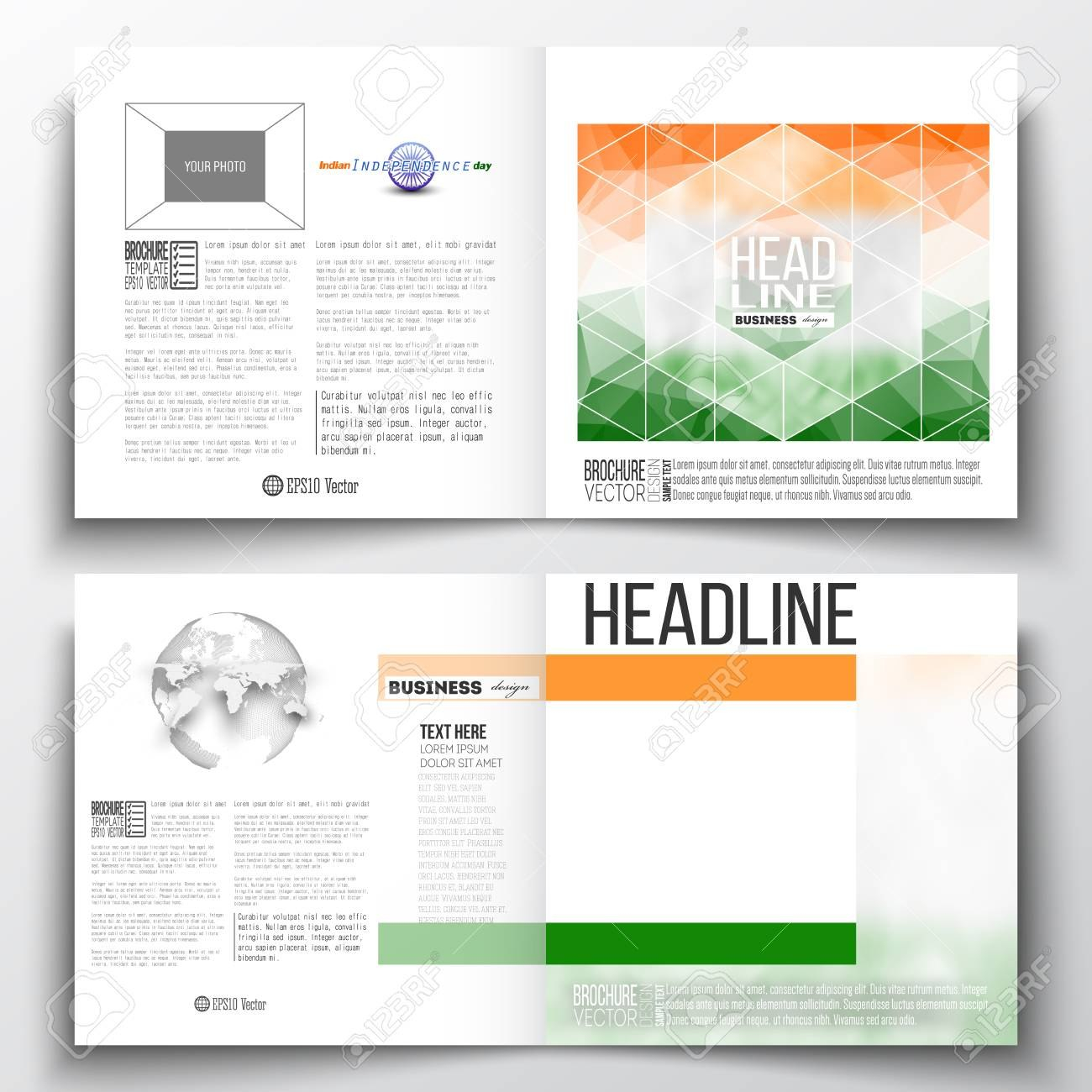 Set Of Annual Report Business Templates For Brochure Magazine In Ind Annual Report Template
