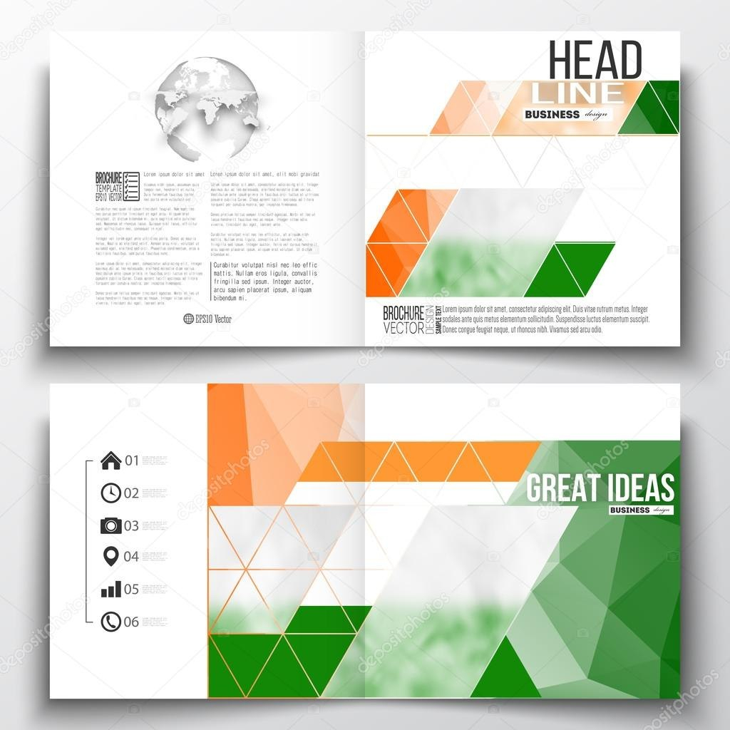Set Of Annual Report Business Templates For Brochure Magazine Intended For Ind Annual Report Template