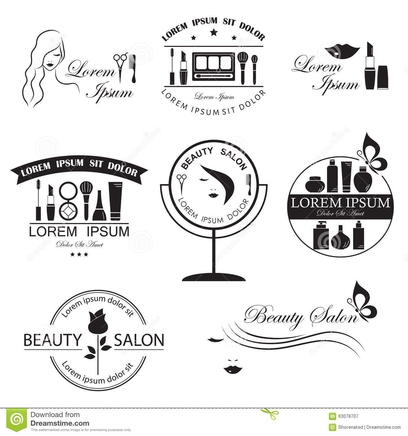 Set Of Beauty Logo Templates Stock Vector  Illustration Of Throughout Butterfly Labels Templates