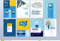 Set Of Brochure Design Templates On The Subject Of Education School for School Brochure Design Templates