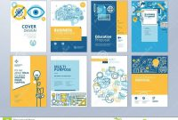 Set Of Brochure Design Templates On The Subject Of Education School pertaining to School Brochure Design Templates