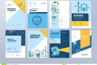 Set Of Brochure Design Templates On The Subject Of Education School throughout School Brochure Design Templates