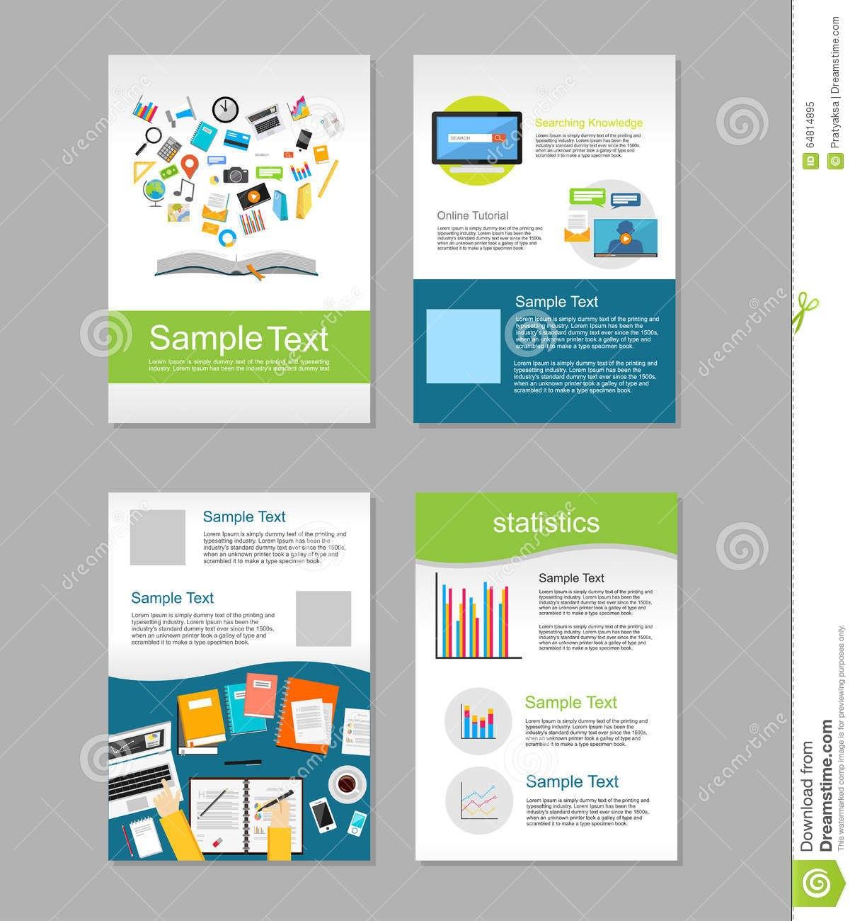 Set Of Flyer Brochure Design Templates Education Infographic With Regard To E Brochure Design Templates