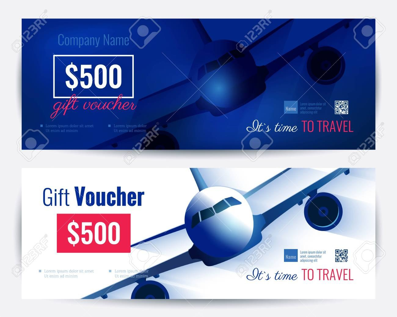 Set Of Gift Travel Voucher Template Gift Certificate For A With Regard To Free Travel Gift Certificate Template