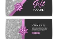 Set Of Gift Voucher Card Template Advertising Or Vector Image regarding Advertising Cards Templates