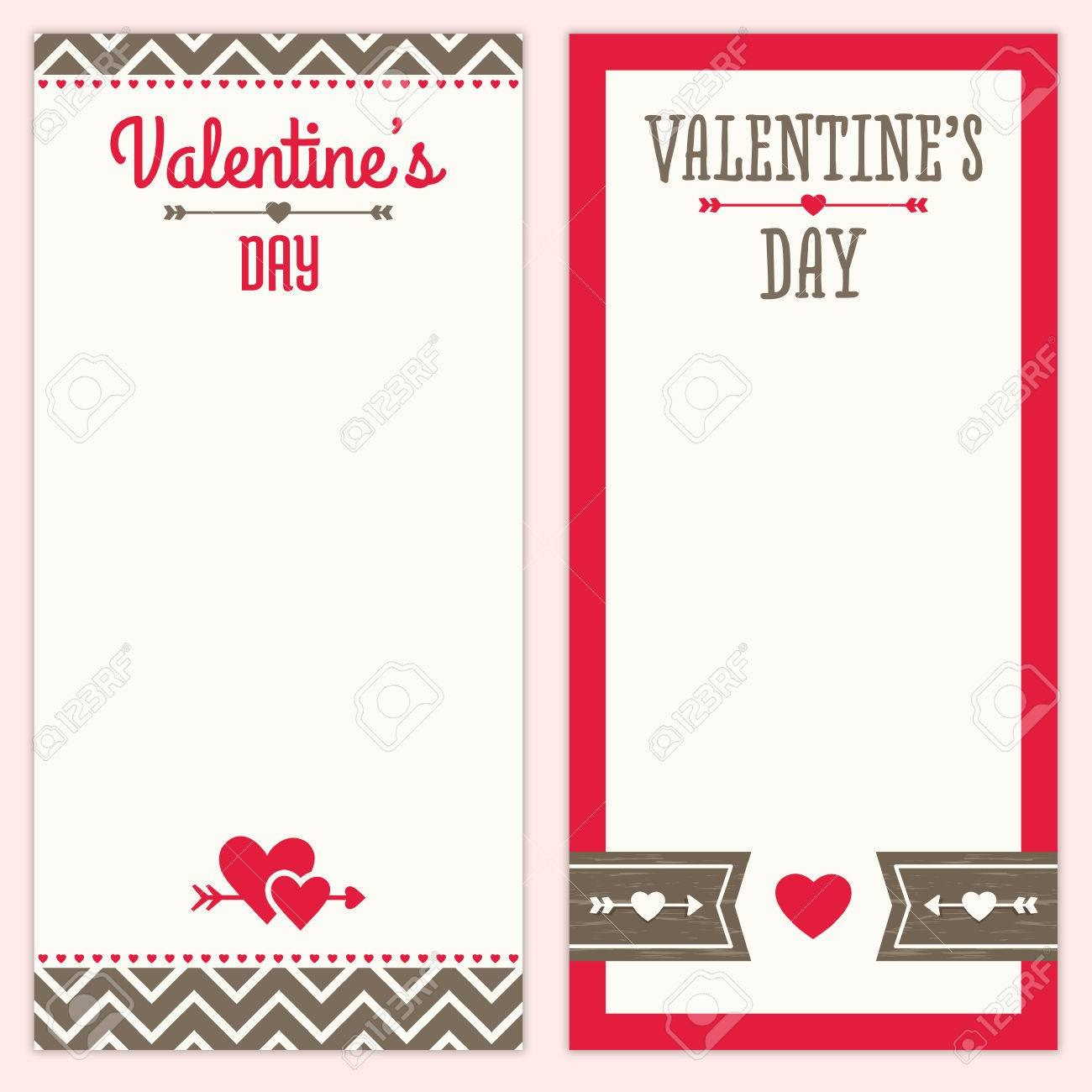 Set Of Hipster Designs For Valentines Day Menu Invitation Or For Free Valentine Menu Templates