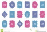 Set Of Product Label Templates Different Shapes Stock Vector for Food Product Labels Template