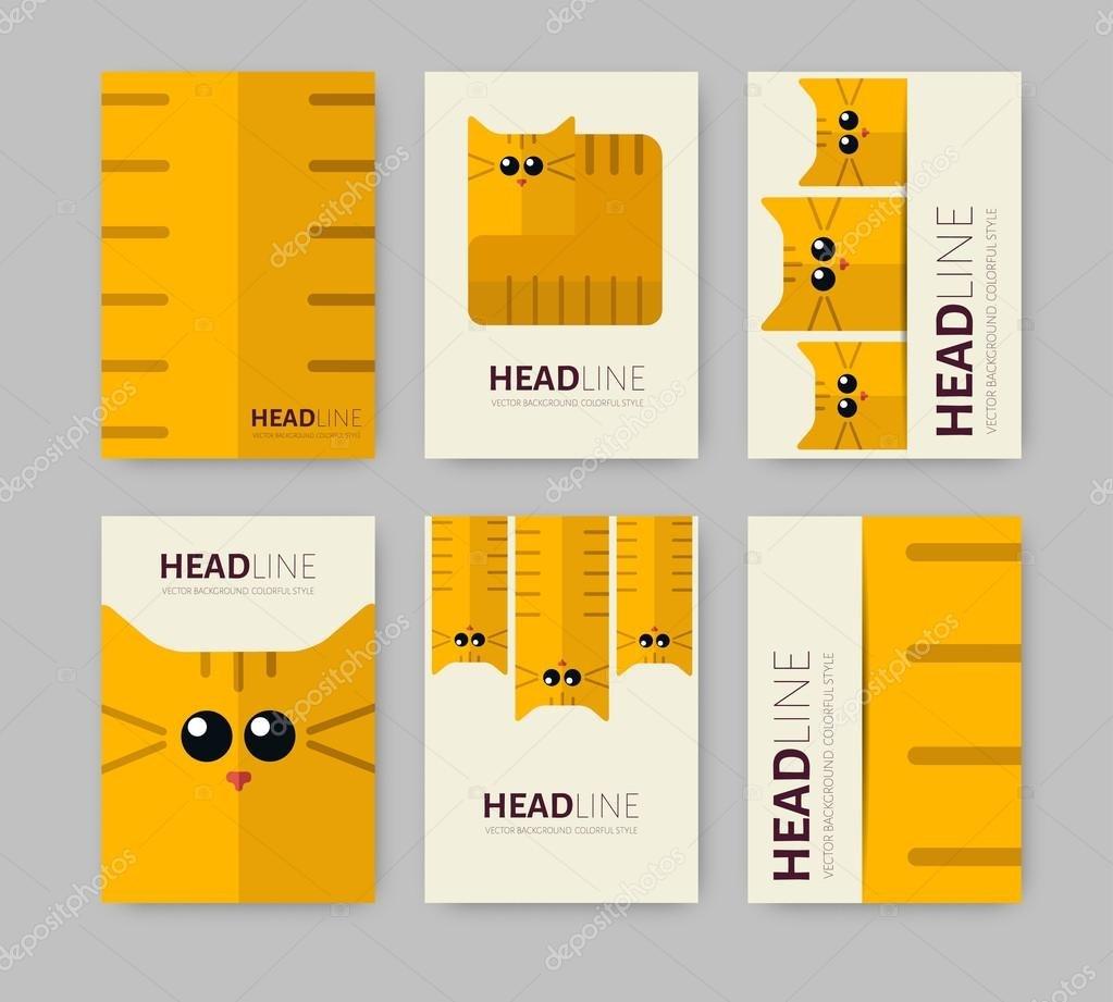 Set Of Six Brochures — Stock Vector © Maralingstad With Zoo Brochure Template
