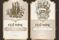 Set Of Wine Labels Royalty Free Cliparts Vectors And Stock pertaining to Wine Label Template Word
