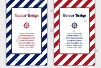 Set Vector Banners Template Nautical Marine Stock Vector Royalty with regard to Nautical Banner Template