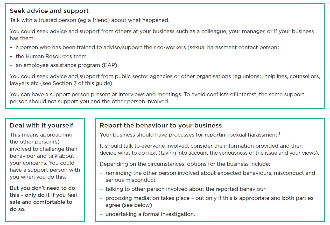 Sexual Harassment  Advice For Workers  Worksafe With Sexual Harassment Investigation Report Template