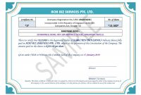Share Certificate In Singapore ~ Achibiz regarding Share Certificate Template Companies House