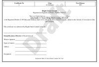 Share Certificate Template  Stock Certificate regarding Shareholding Certificate Template