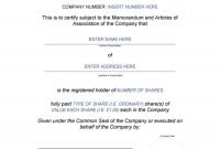 Share Certificate Templates  Word Excel  Pdf Templates  Www within Template Of Share Certificate