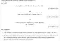 Shareholder Agreement Form Us  Lawdepot regarding Unanimous Shareholder Agreement Template