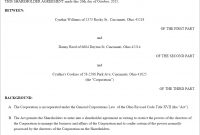 Shareholder Agreement Form Us  Lawdepot within Sample Shareholder Agreement For Startup
