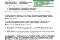 Shareholder Agreement   Free Templates In Pdf Word Excel Download with Unanimous Shareholder Agreement Template
