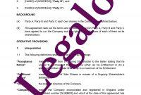 Shareholders Agreement Template  Minority Shareholder Rights with Minority Shareholder Agreement Template