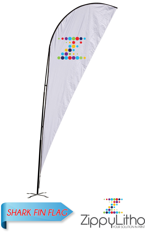 Shark Fin Flag  Zippy Litho Within Sharkfin Banner Template