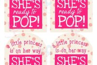 She's Ready To Pop Princess On Her Way Printable Wine  Etsy in Ready To Pop Labels Template