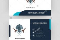 Shield And Sword Business Card Design Template Visiting For Your regarding Shield Id Card Template