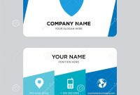 Shield Business Card Design Template Visiting For Your Company throughout Shield Id Card Template
