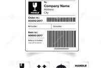 Shipping Label Barcode Template Stock Vector  Illustration Of Stamp inside Package Address Label Template