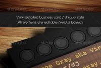 Side Business Card Template For Ableton Push Producers And Dj¡¯s in Push Card Template