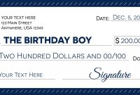 Signage   Giant Check Uses And Templates  Signs Blog for Large Blank Cheque Template