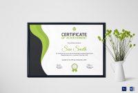 Simple Bowling Award Certificate Design Template In Psd Word in Award Certificate Design Template