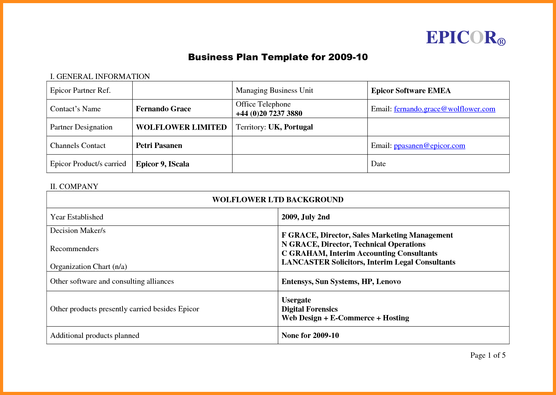Simple Business Plan Templates Free Template Within Download With Regard To Simple Business Plan Template Excel