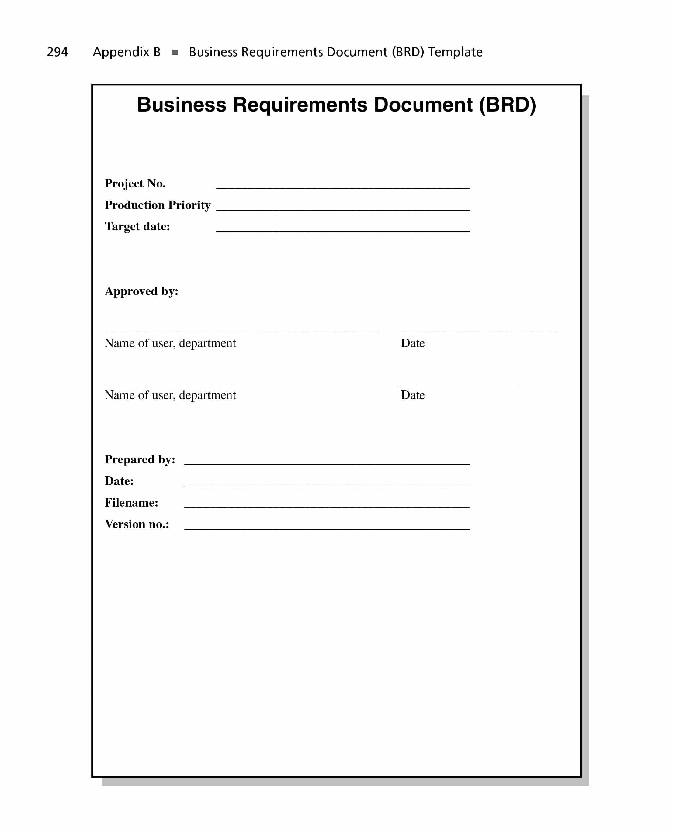 Simple Business Requirements Document Templates ᐅ Template Lab In Business Requirements Document Template Word