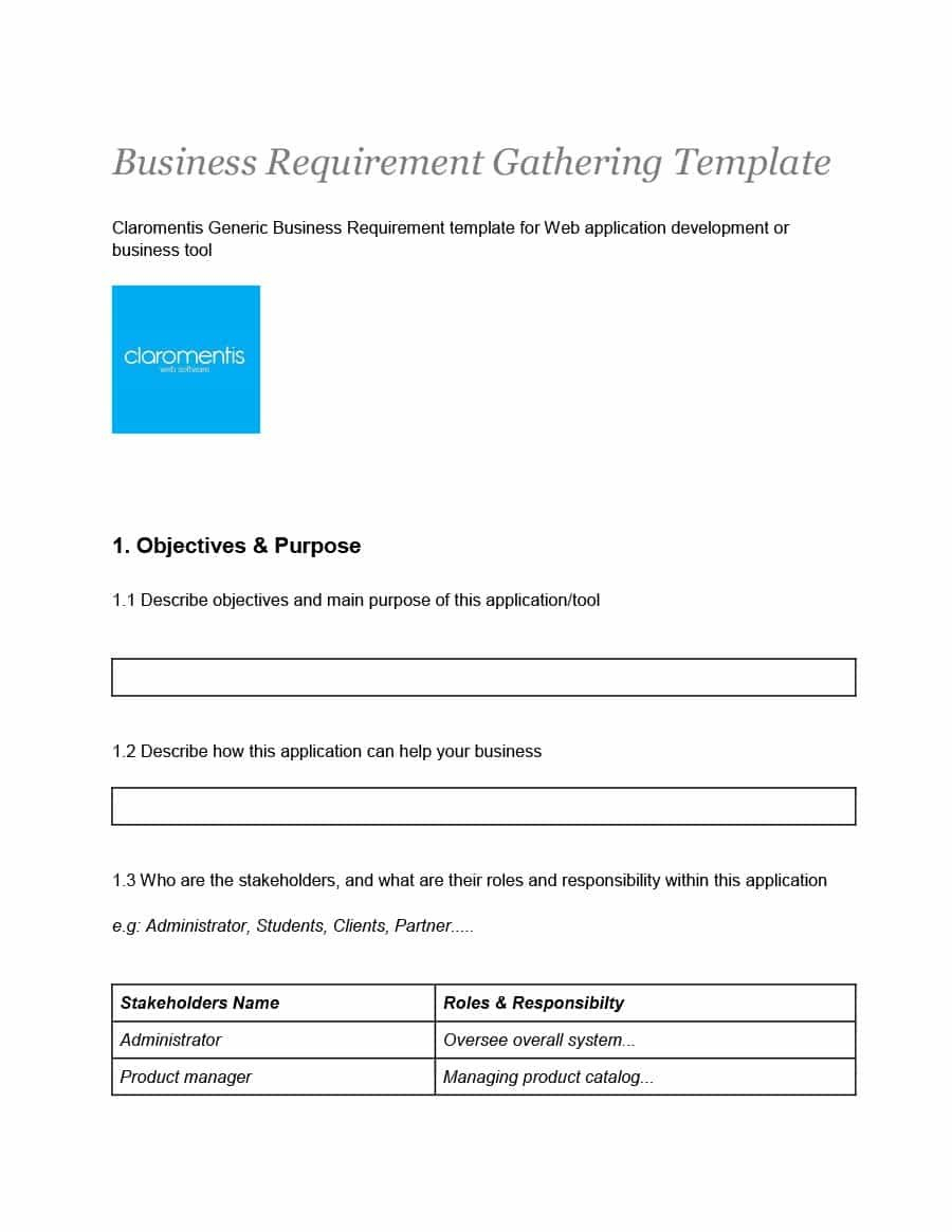 Simple Business Requirements Document Templates ᐅ Template Lab Pertaining To Business Requirement Specification Document Template