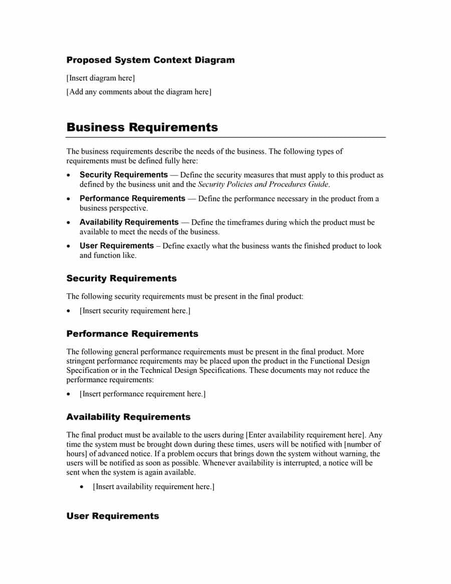 Simple Business Requirements Document Templates ᐅ Template Lab Pertaining To Business Requirements Document Template Word