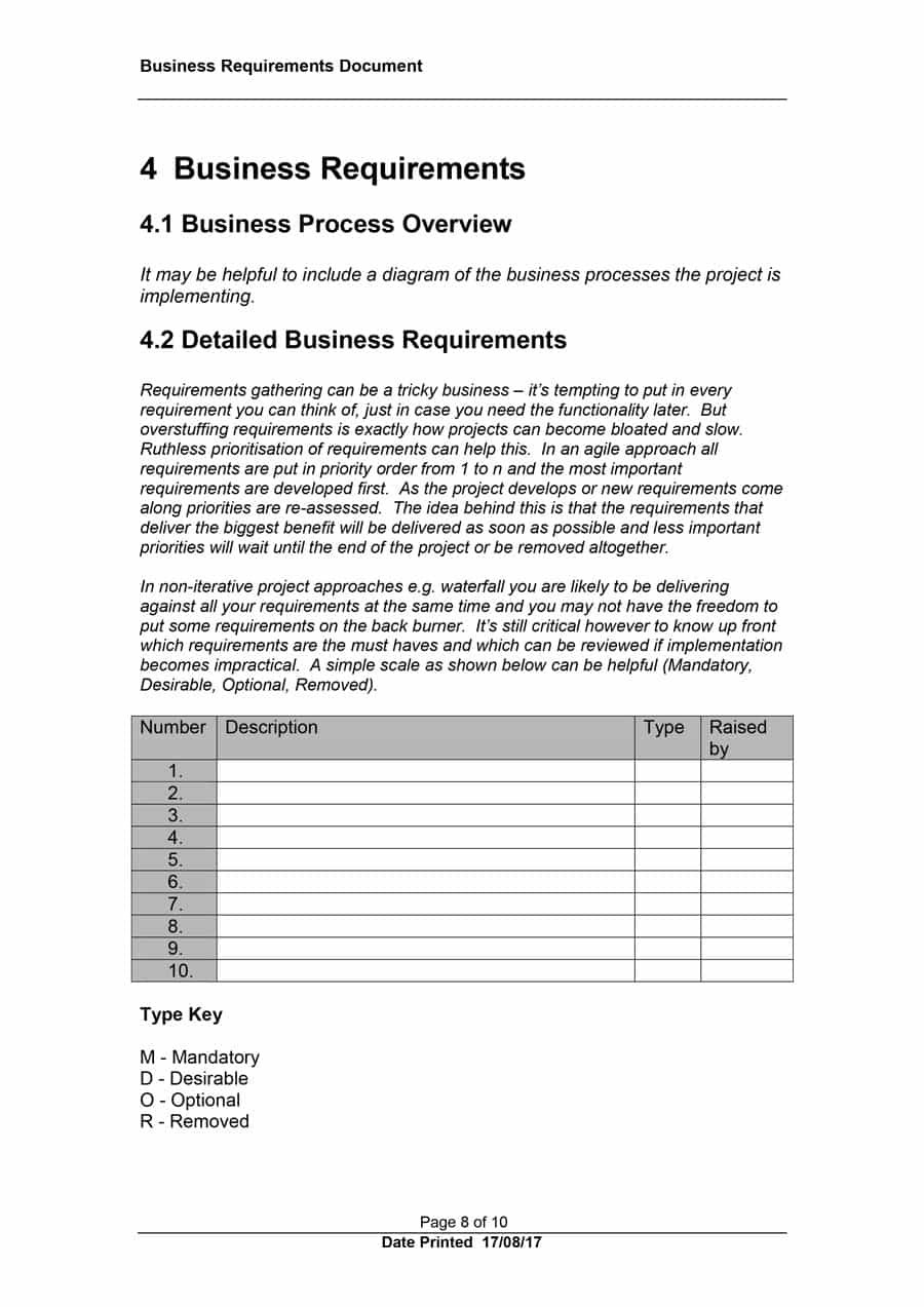 Simple Business Requirements Document Templates ᐅ Template Lab Within Business Requirement Specification Document Template