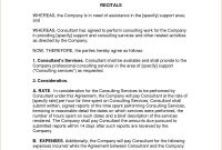 Simple Consulting Agreement Sample Document Letter  Consultancy with regard to Consulting Service Agreement Template