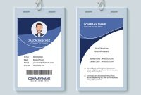 Simple Corporate Id Card Design Template Vector Image with regard to Company Id Card Design Template